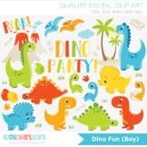 Clipart - Dinosaur Fun (Boy)