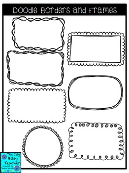 Clipart - Doodle Page Borders and Matching Frames