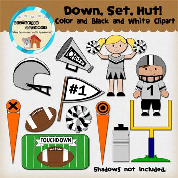 Clipart: Down. Set. Hut!