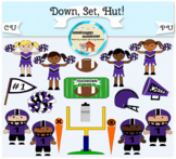 Clipart: Down. Set. Hut! - football - cheerleader - sport