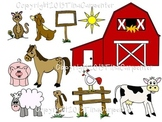 Clipart: Down on the Farm