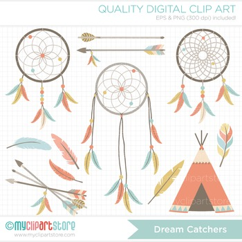 Clipart - Dream Catchers / Tribal / Aztec / Navajo / American Indian