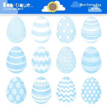 Clipart- Easter Eggs Digital Clip Art. Blue Easter Eggs Clipart.