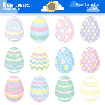 Clipart- Easter Eggs Digital Clip Art. Pastel Easter Eggs