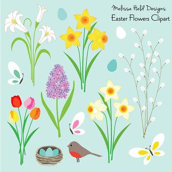 Clipart: Easter Flowers Clip Art