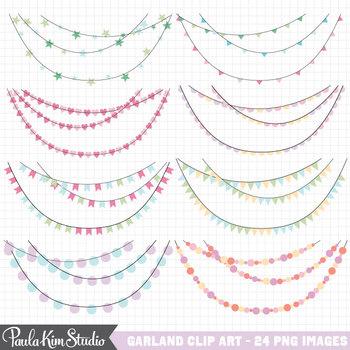 Clipart - Pastel Garlands