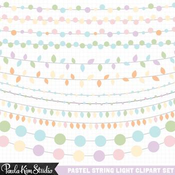 Clipart - Easter Pastel String Lights