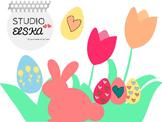 Clipart Easter, Spring, Flowers, Easter eggs