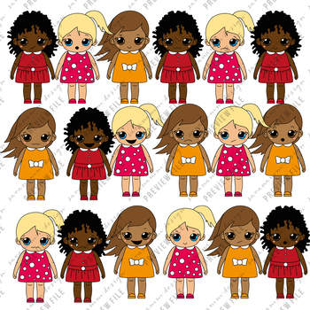 Clipart Girls - Feelings and Emotions