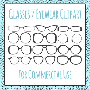 Eye Glasses / Spectacles Clip Art Pack for Commercial Use