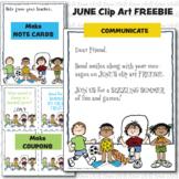 Clipart FREEBIE for June (Karen's Kids Clipart)