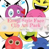 Emoji Style Face Clip Art Pack