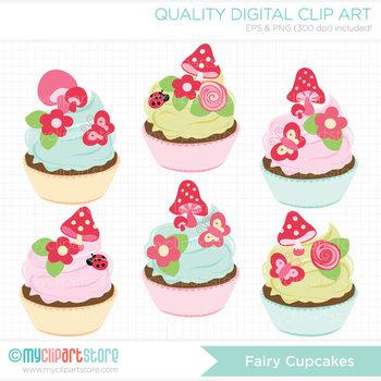 Clipart - Fairy Cupcakes