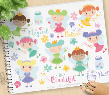 Clipart - Fairy Magic / fairy princess