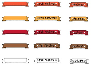 Clipart: Fall / Autumn Banners