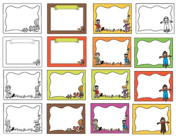 Clipart: Fall / Autumn Borders