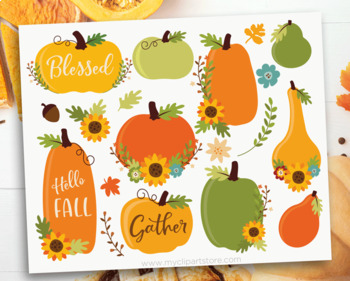 Clipart - Fall / Autumn / Thanksgiving Pumpkins