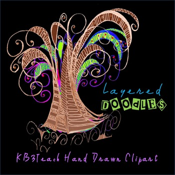Clipart: Fancy Tree Doodle Designs