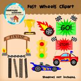 Clipart: Fast wheels- cars - trucks - race