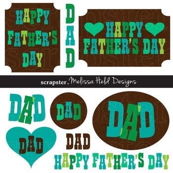 Clipart: Father's Day Clip Art Retro Graphics