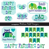 Father's Day Clip Art with Owls and Elephants
