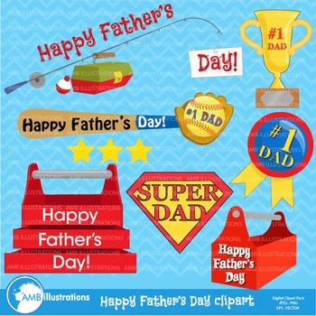 Fathers Day Clipart, Dads Clipart, Clip Art, Digital Download, AMB-908