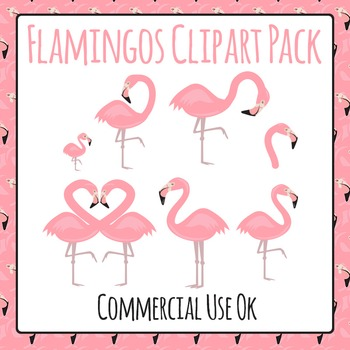 Flamingos Clip Art Pack for Commercial Use