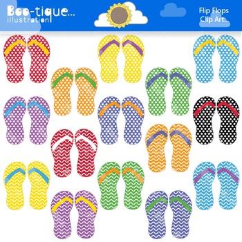 Clipart- Flip Flops Clipart. Summer Clipart. Sandals Clipart