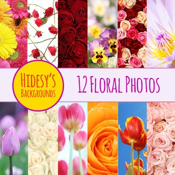 Flower Photo Backgrounds Clip Art Pack for Commercial Use