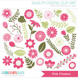 Clipart - Flower Collection (Pink) / Floral / Mother's Day
