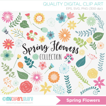 Clipart - Floral Collection / Spring Flowers