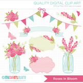 Clipart - Flowers / Roses In Bloom / Floral