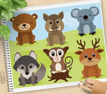 Clipart - Woodland Animals (set 2)