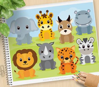 Clipart - African Safari / Jungle Animals