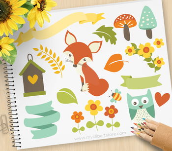 Clipart - Fox / Whimsy Woodland Animals