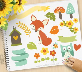 Clipart - Fox / Whimsy Woodland Animals