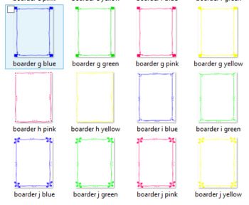 Clipart Frames & Boarders in Colour