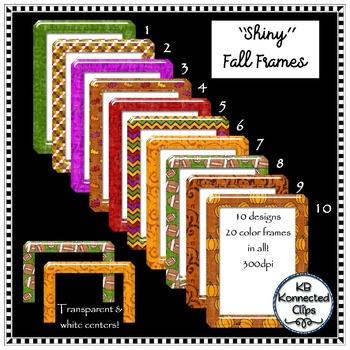 Clipart Frames - Fall Shiny Frames