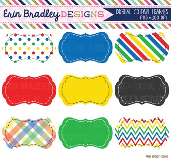 Clipart Frames - Primary Colors
