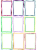 Clipart Frames in multi-colours