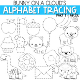 Alphabet Tracing Clipart Part 1 ABCDE by Bunny On A Cloud