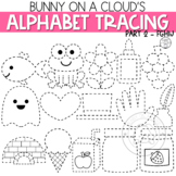 Alphabet Tracing Clipart Part 2 FGHIJ by Bunny On A Cloud