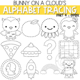 Alphabet Tracing Clipart Part 4 OPQR by Bunny On A Cloud