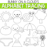 Alphabet Tracing Clipart Part 5 STUV by Bunny On A Cloud
