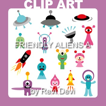 Clipart Friendly Aliens A - Out of this world clip art