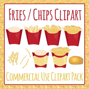 Fries or Hot Chips Takeaway Clip Art Pack