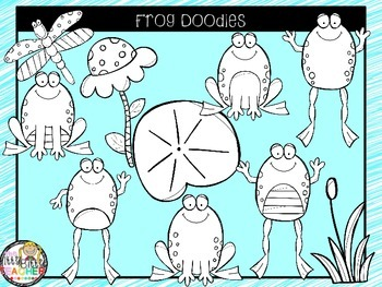 Clipart - Frog Doodles