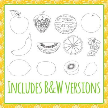 Fruit Collection Clipart - Commercial Use Clip Art Pack
