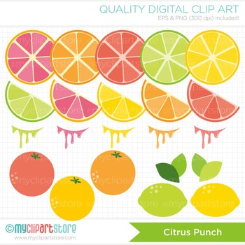 Clipart - Citrus Punch / Fruit