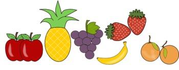 Clipart Bundle Fruit Vegetables Drinks and Breakfast Foods